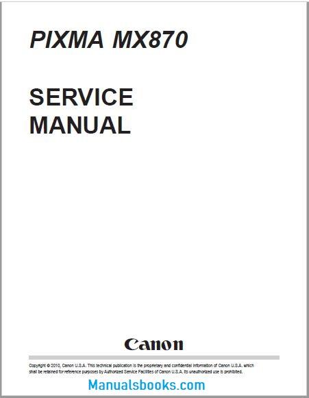 Canon Pixma MX870 Service Manual