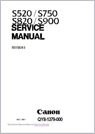 Canon S900 S820 S750 S520 Service Manual
