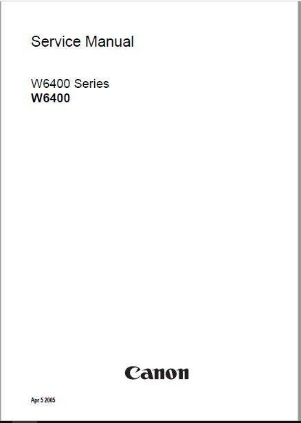Canon W6400 Service Manual