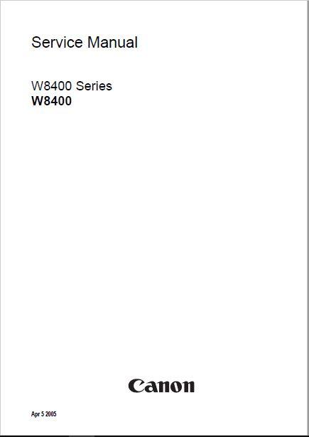 Canon W8400 Service Manual
