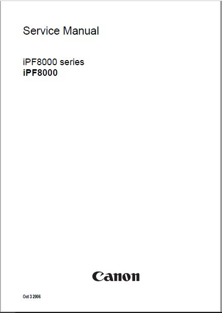 Download Canon iPF8000 Service Manual
