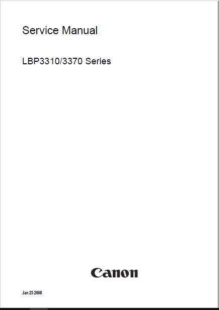 Canon Lbp3310  3370 Service Manual