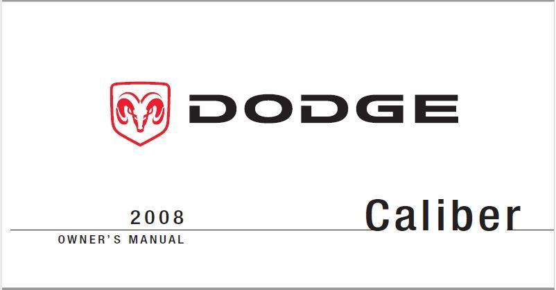 2008 Dodge Caliber Owners Manual