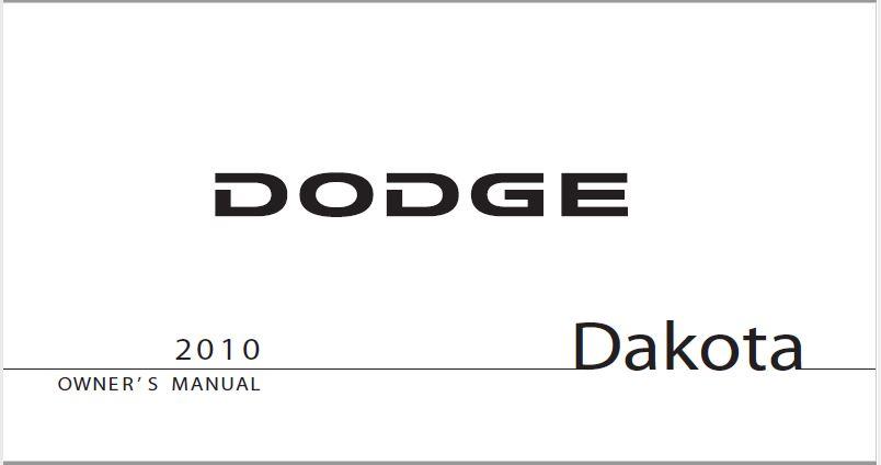2010 Dodge Dakota Owners Manual