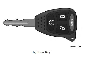 2011 Dodge Dakota Ignition Key
