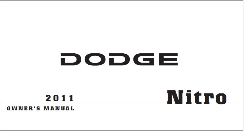 2011 Dodge Nitro Owners Manual