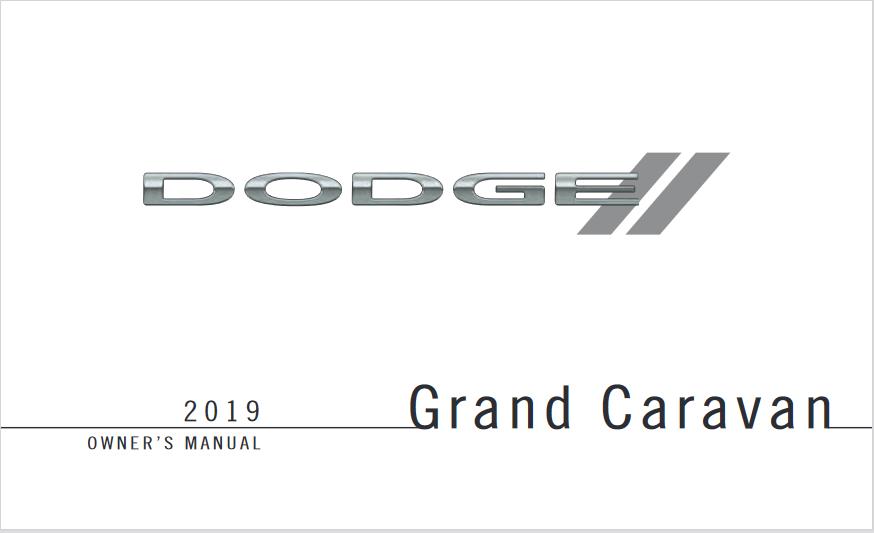 2019 Dodge Grand Caravan Owners Manual
