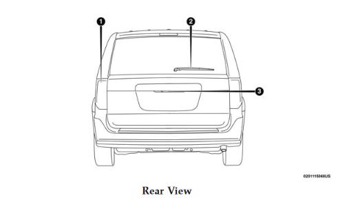 2019 Dodge Grand Caravan Rear View