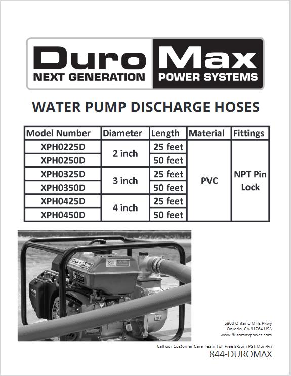 Duromax XHP0350D manual