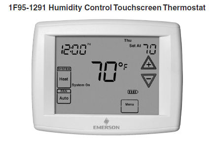 1F95-1291 Humidity Control Touchscreen Thermostat
