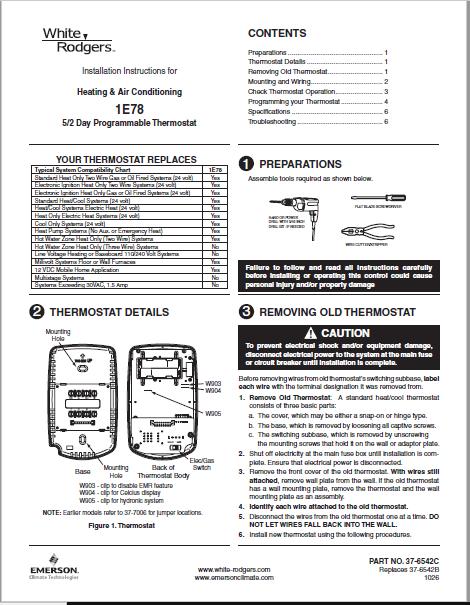 Emerson 1E78-151 Instruction Manual