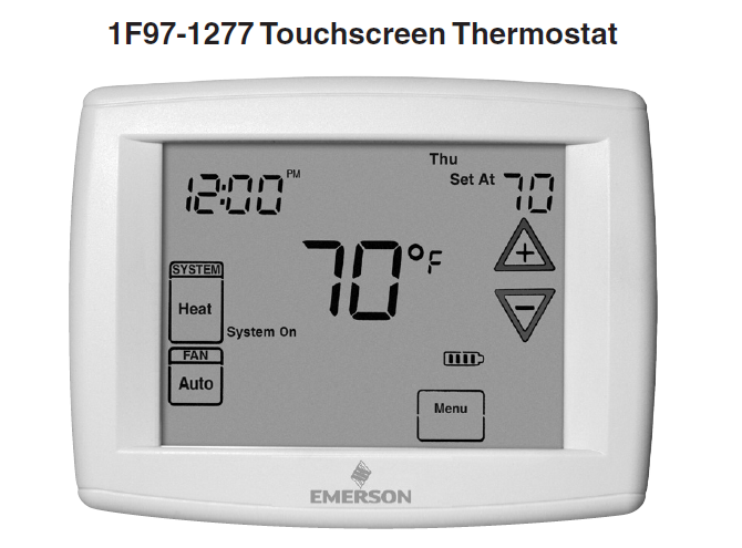 Emerson White Rodgers 1F97-1277 Touchscreen Thermostat Manual