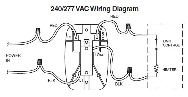 White Rodgers B50 240/277 VAC Wiring Diagram