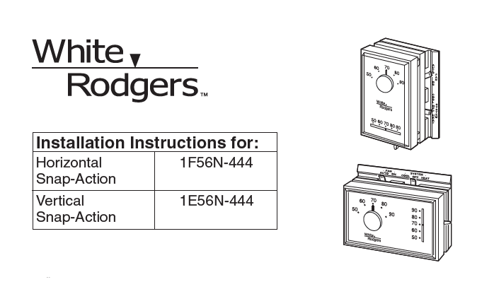 White Rodgers 1F56N-444 Manual