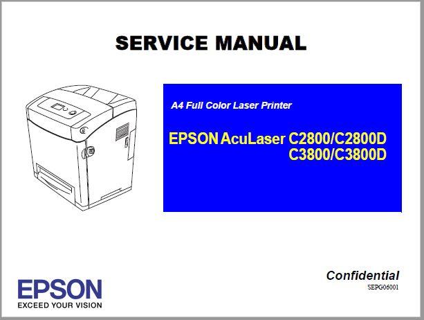 Epson AcuLaser C2800/C2800D/C3800/C3800D Service Manual