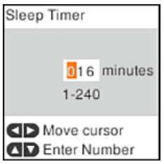 Changing the Sleep Timer Setting from the Control Panel Epson ET-2760-2