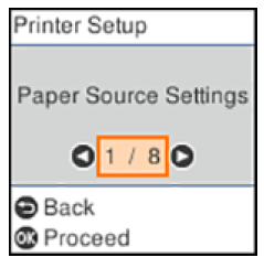 Changing the Sleep Timer Setting from the Control Panel Epson ET-2760