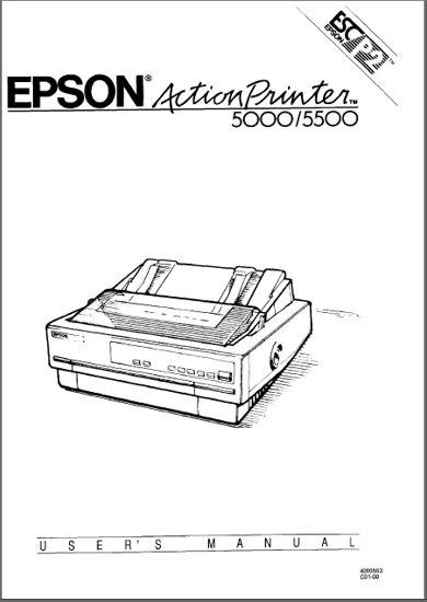 Epson Action Printer 5000 Service Manual