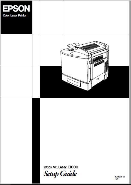 Epson Aculaser C1000 Setup Guide