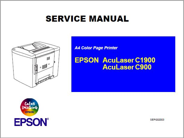 Epson Aculaser C1900-C900 Service Manual