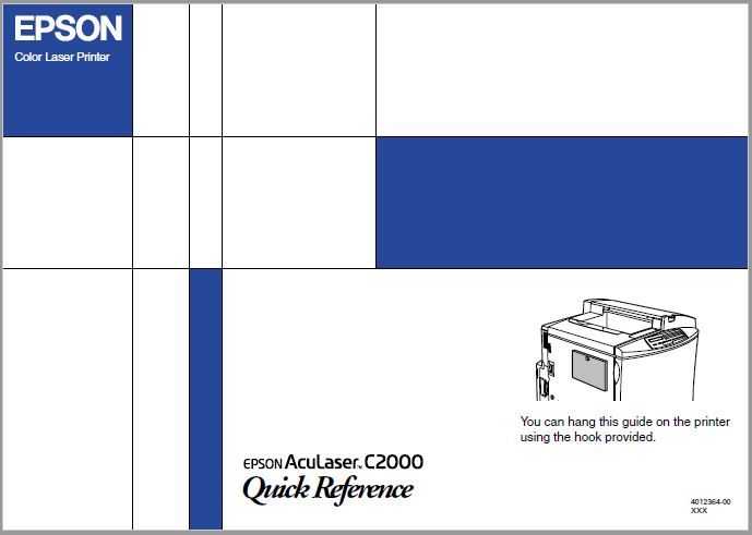 Epson Aculaser C2000 Quick Reference