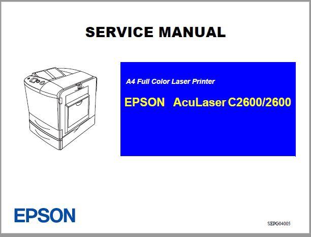 EPSON AcuLaser C2600-2600 Manual