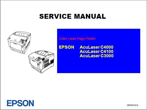 Epson Aculaser C4100 C4000 C3000 Service Manual