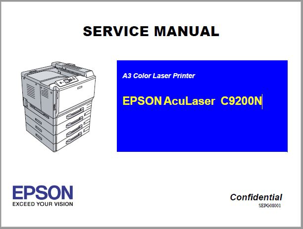 Epson AcuLaser C9200N Service Manual
