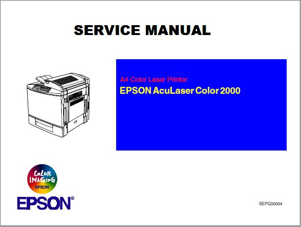 EPSON AcuLaser Color 2000 Service Manual
