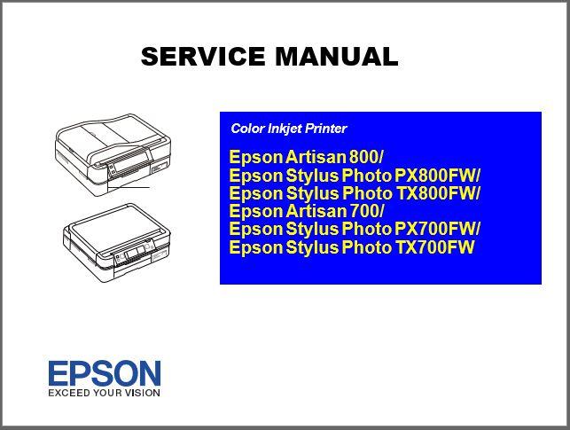 Epson Artisan 700-800 Series Service Manual