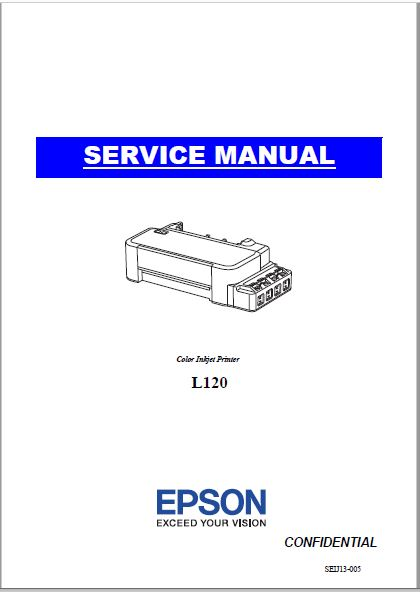 Epson Color Inkjet L120 Service Manual