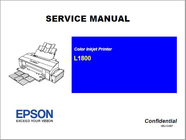 Epson Color Inkjet L1800 Service Manual