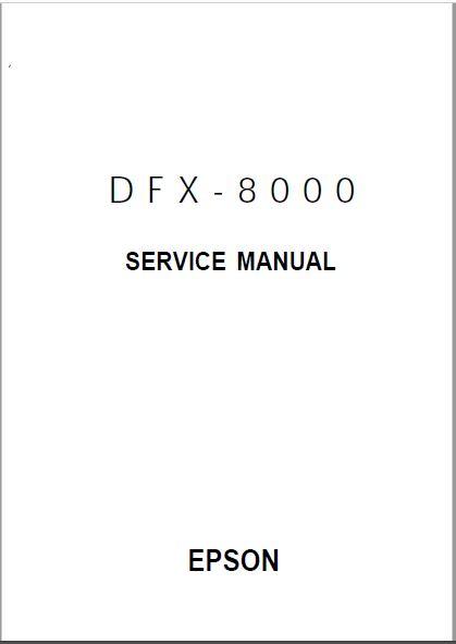 Epson DFX 8000 Service Manual
