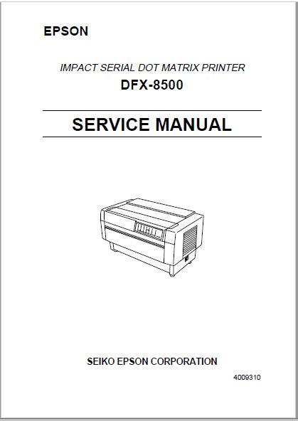 Epson DFX 8500 Service Manual