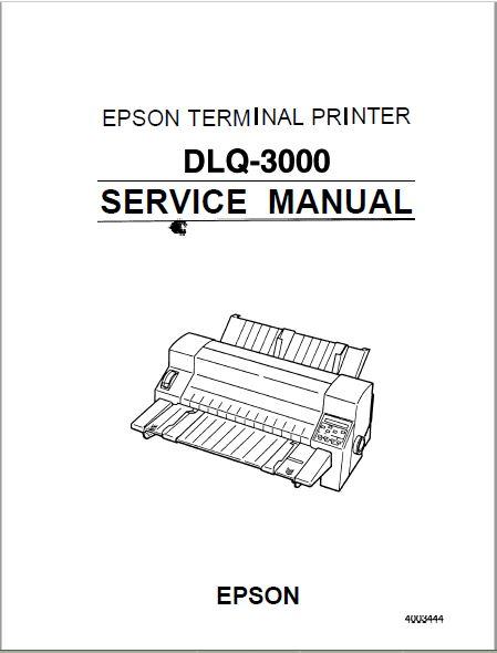 Epson DLQ 3000 Service Manual