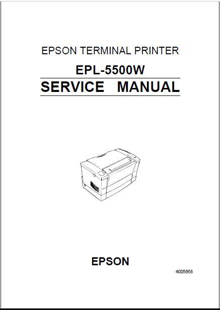 Epson EPL 5500W Service Manual