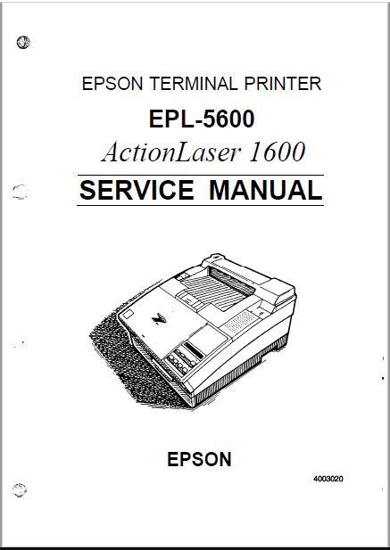 Epson EPL 5600 Service Manual