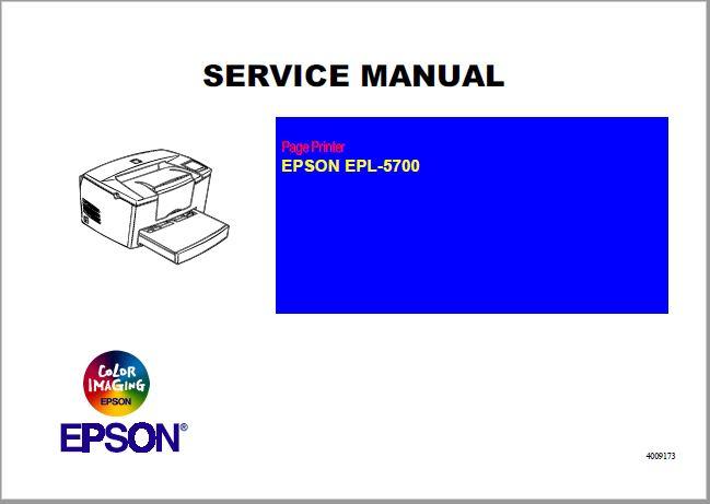 Epson EPL-5700 Service Manual