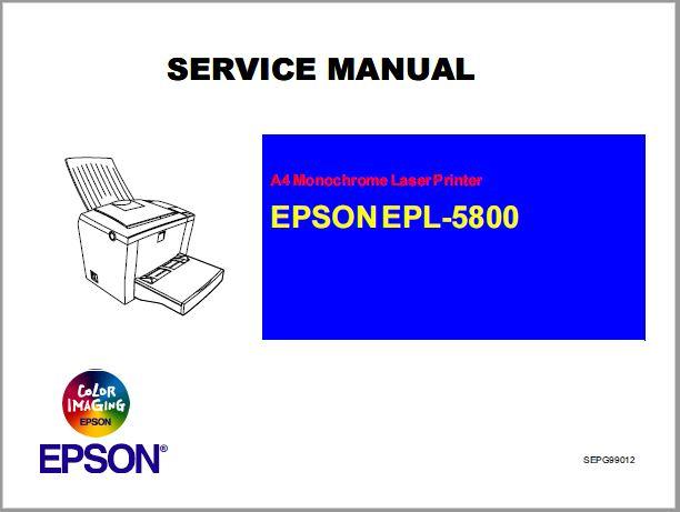 Epson EPL-5800 Service Manual
