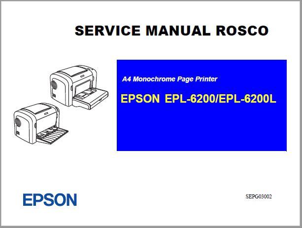 Epson EPL-6200-6200L Service Manual