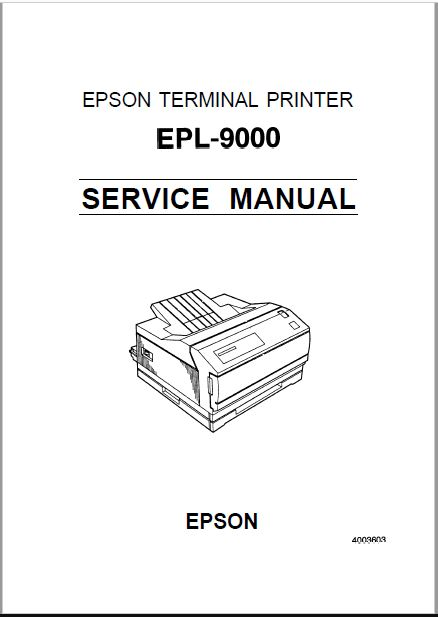 Epson EPL-9000 Service Manual