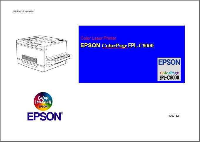 Epson EPL-C8000 Service Manual