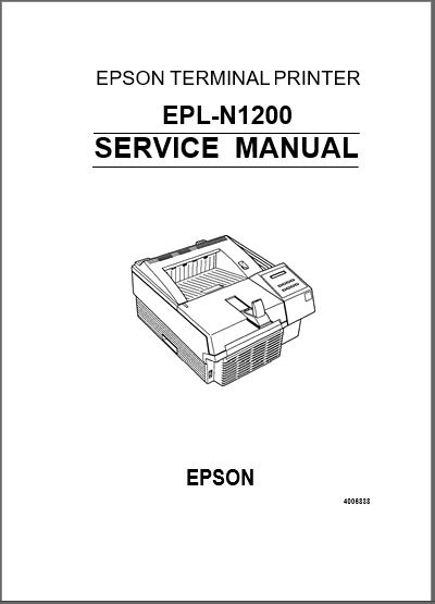 Epson EPL-N1200 Service Manual