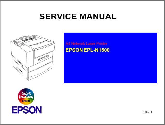 Epson EPL-N1600 Service Manual