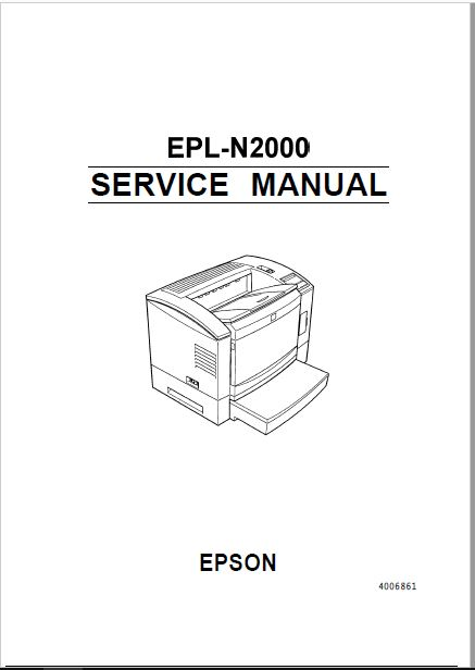 Epson EPL-N2000 Service Manual