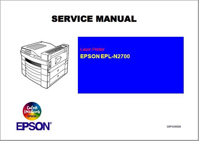 Epson EPL-N2700 Service Manual PDF