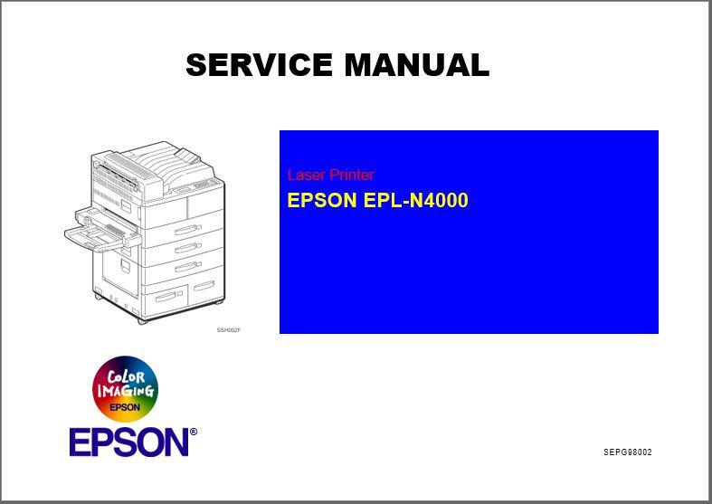 Epson EPL-N4000 Service Manual