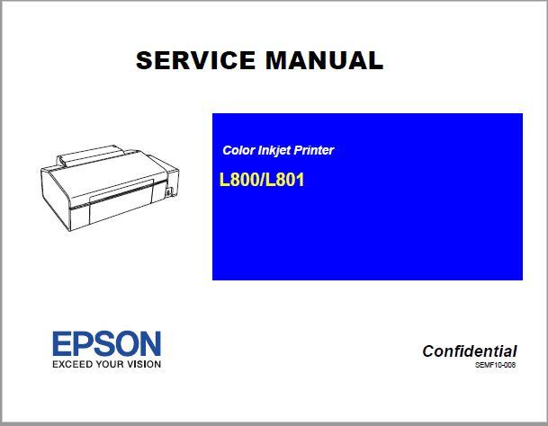Epson l800/l801 Service Manual