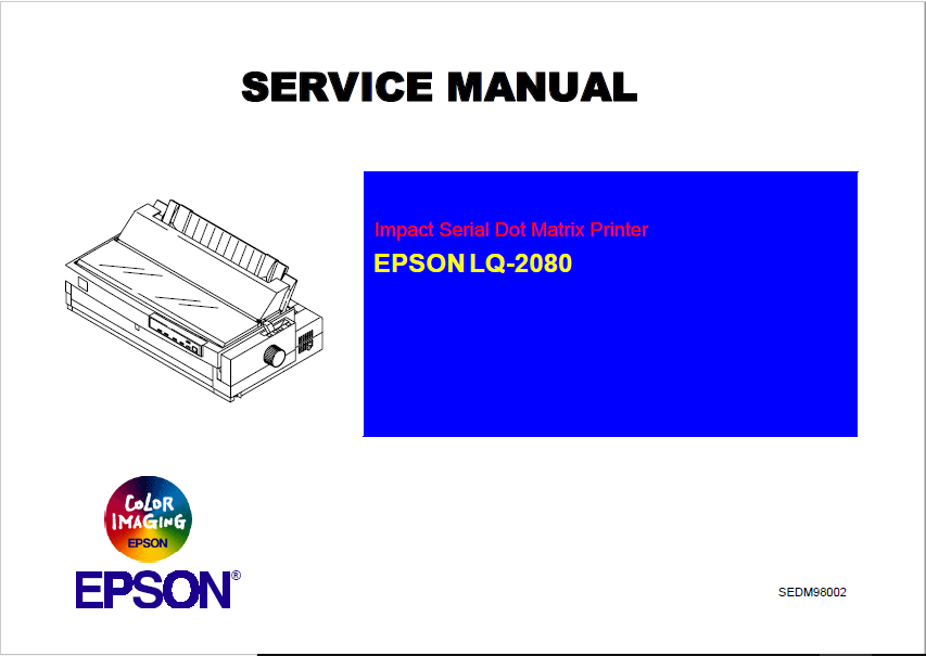 Epson LQ-2080 Service Manual