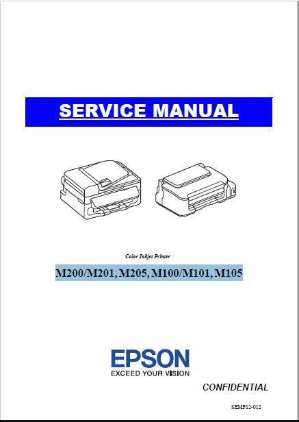 Epson M200/M201, M205, M100/M101, M105 Service Manual